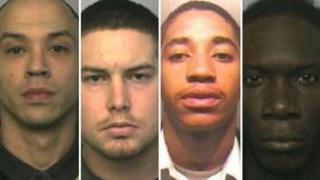 L-R: Anthony Cooke, Joseph Gentle, Drizz James, Leon Dorman