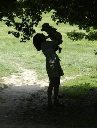 Woman and child (Image: BBC)