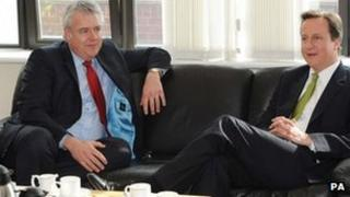 Carwyn Jones and David Cameron