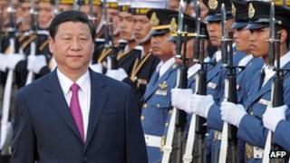 Xi Jinping visiting Bangkok, 22 December 2012