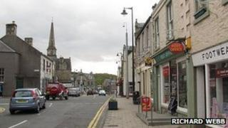 Selkirk town centre - picture by Richard Webb