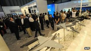 Delegates at Singapore airshow in 2010