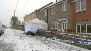 Scene of the death in Coleford