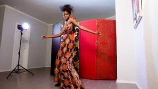 Model wearing KikoRomeo dress