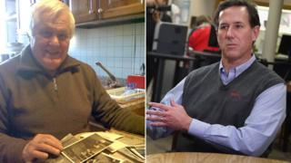 Gianni Bottesi and Rick Santorum (Picture of Rick Santorum from Getty Images)