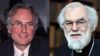 Professor Richard Dawkins (l) and The Archbishop of Canterbury