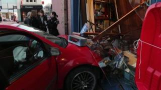 The car after it crashed