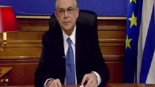 PM Lucas Papademos in TV address - 11 February