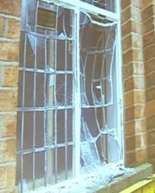 Hinckley church windows damaged