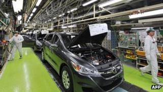Honda factory in Japan