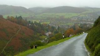 Burway Road looking over Church Stretton, pic courtesy of Jonathan Billinger
