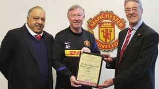 Idris Khan, Sir Alex Ferguson and Peter Shaw