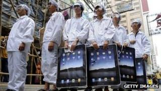 Protesters demonstrate over Foxconn factories