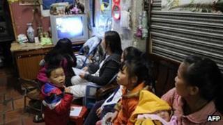 Watching TV in China
