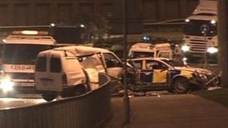 Grosvenor Road car crash scene