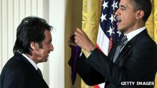 Al Pacino with President Obama