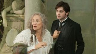 Daniel Radcliffe with Janet McTeer (l) in The Woman in Black