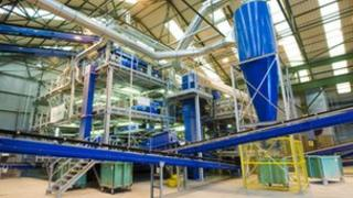 Viridor glass recycling plant in Sheffield