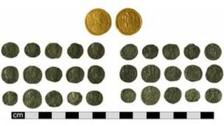 The coins found near Mildenhall