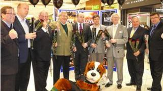 Councillors and MPs at the Grosvenor Centre in Northampton
