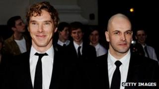 Jonny Lee Miller (l) with Benedict Cumberbatch