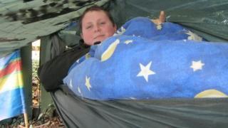 Rob Challinor in his hammock