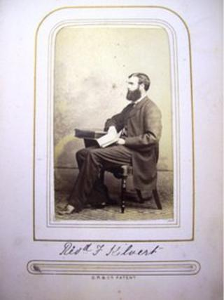 Photograph of Francis Kilvert in album