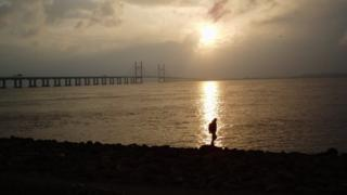 The Severn Estuary near the second river crossing