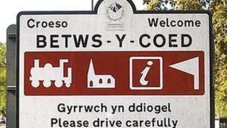 Arwydd Betws-Y-Coed
