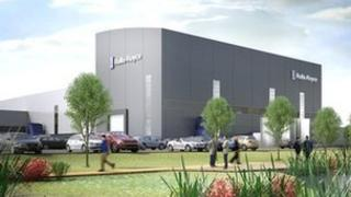 Artist's impression of proposed Rolls Royce factory