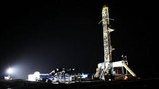Fracking operation in Springville, Pennsylvania