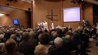 Church service in memory of Vicar, John Suddards