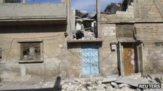 Damage in Baba Amr, Homs, Syria, 16 Feb 2012