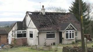 House fire in Pilgrims Way, Trottiscliffe