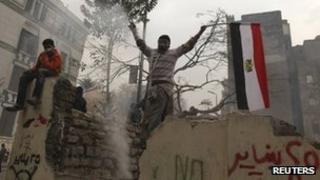 Protesters in Cairo, 6 Feb