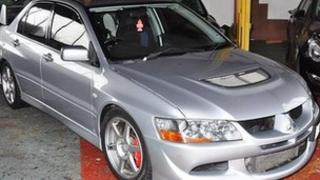 The victim's Mitsubishi Lancer Evo