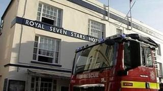 Fire at Royal Seven Stars, Totnes