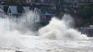 Stormy seas in Porthleven