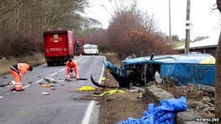A944 fatal scene [Pic: Newsline]