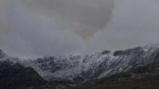 The cloud formation was spotted over Carnedd Dafydd on Sunday (Pic: Peter Macmillen)