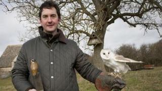 Mark Tufnell and owl