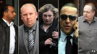 Faisal Qadeer, Andrew Minshull, Debbie Worton, Simon Barry and Lloyd Isherwood