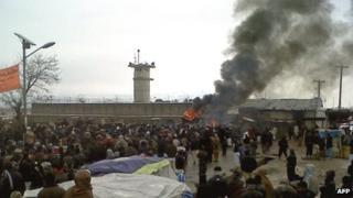 Protest at Bagram air base