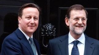 David Cameron and Mariano Rajoy