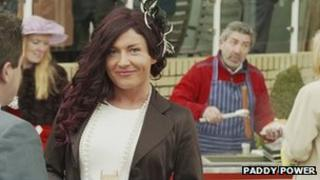 The Paddy Power TV advert featured transgendered women at Cheltenham Festival