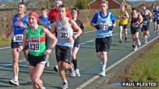 Runners in the Wrexham Village Bakery Half Marathon