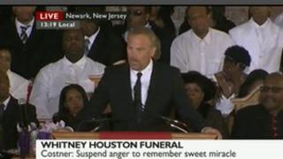Kevin Costner at Whitney Houston's funeral
