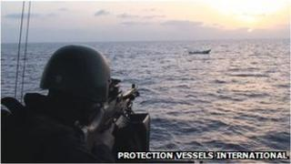 Armed maritime security operative. Courtesy Protection Vessels International