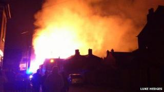 A fire at the Old Norville Works in Gloucester: Taken by Luke Hedges