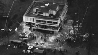 IRA bomb blast at Aldershot barracks